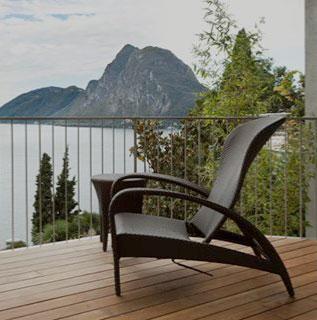 chair on porch lake view