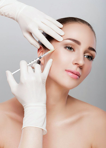 stock image of a female model with injectable-treatment
